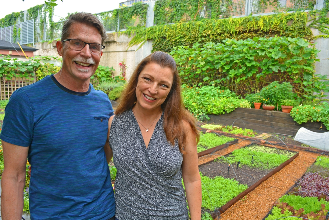 Rick Bayless in His Garden