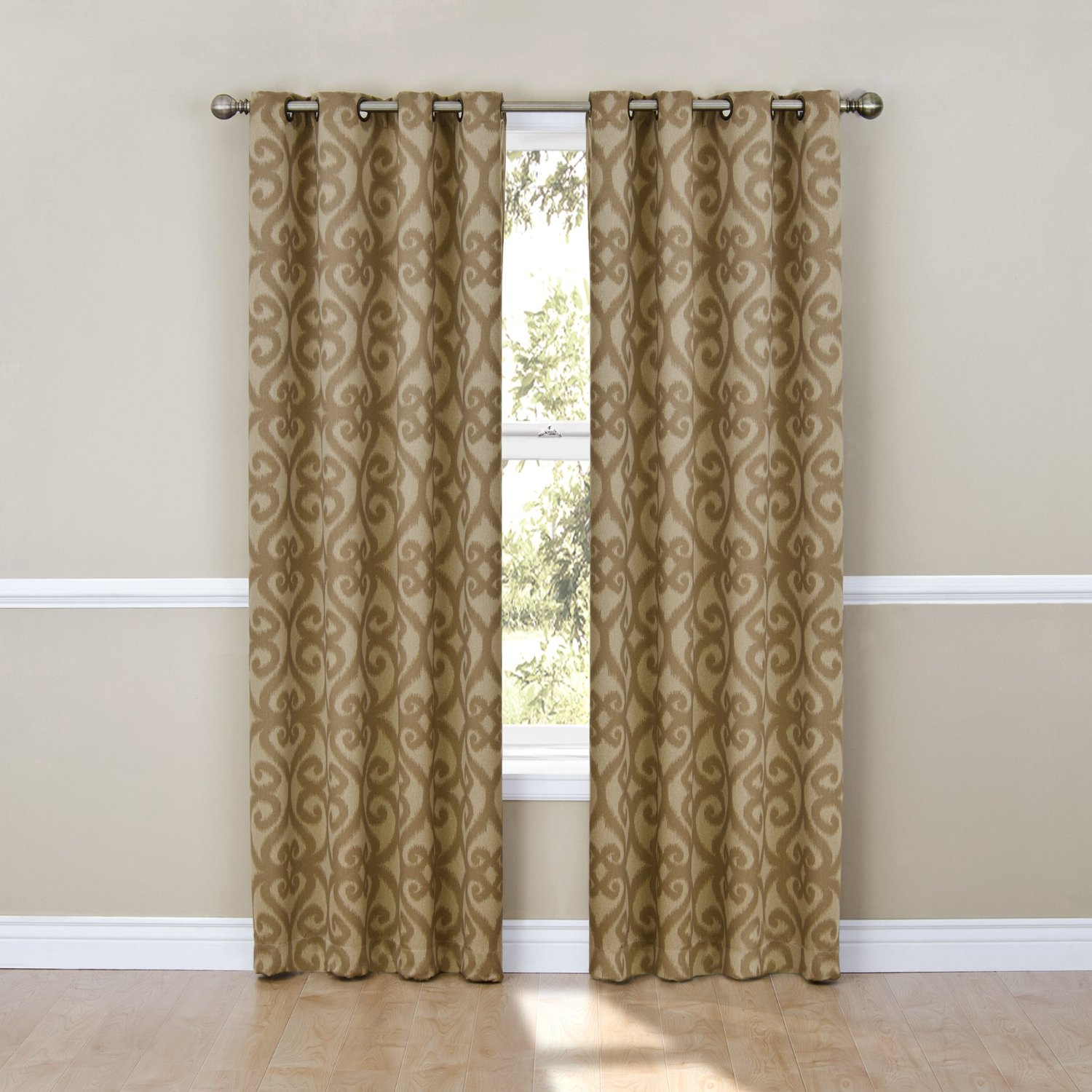 Blackout Curtains Patricia Blackout Grommet Cafe Color