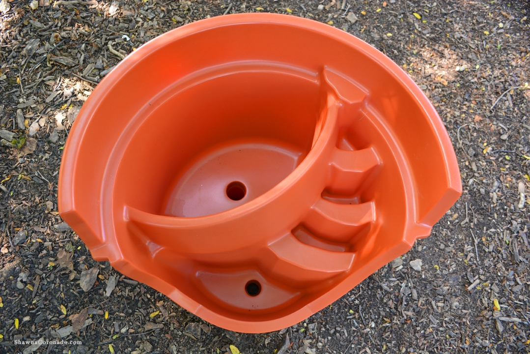 Halloween Broken Pot Container Garden Pot
