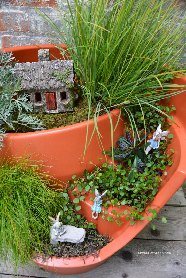 Broken Pot Fairy Container Garden Spring Photo - Shawna Coronado