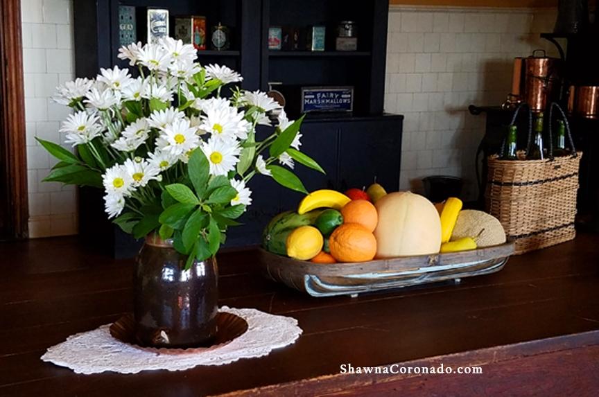 Flowers at Biltmore Estate Kitchen