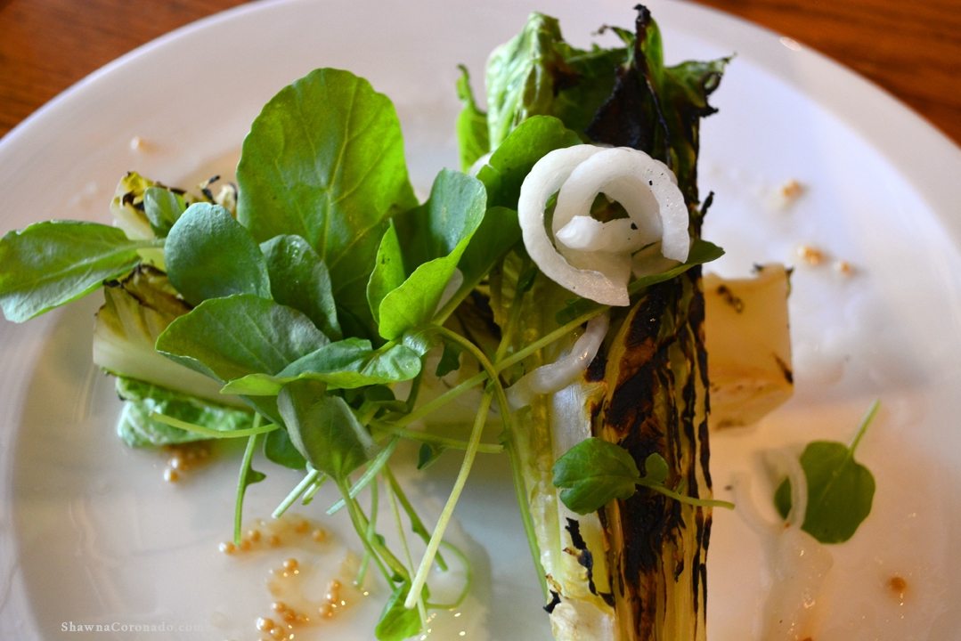 Grilled Romaine Lettuce Salad with Fennel