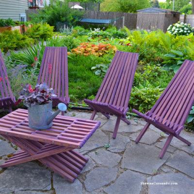 Glodea Garden Furniture in Purple Berry