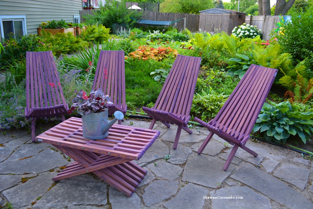 Merveilleux Glodea Garden Furniture In Purple Berry