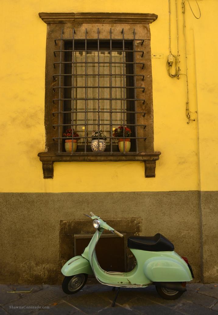 Lucca Italy Vespa