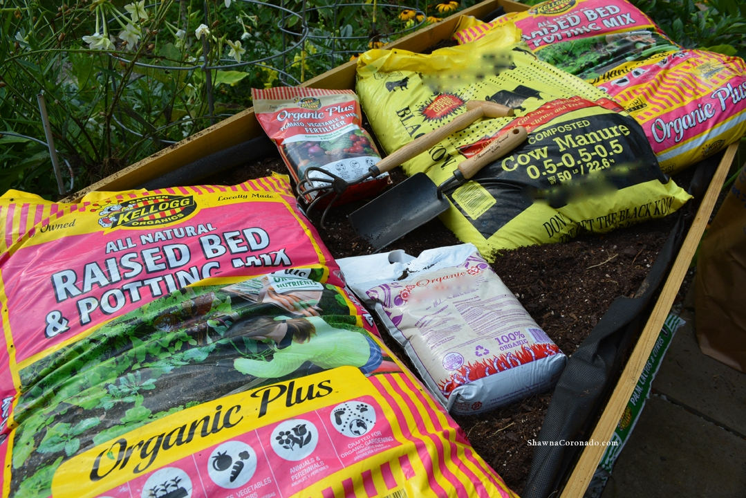 Herb Garden Elevated Bed Soil Formula Combination
