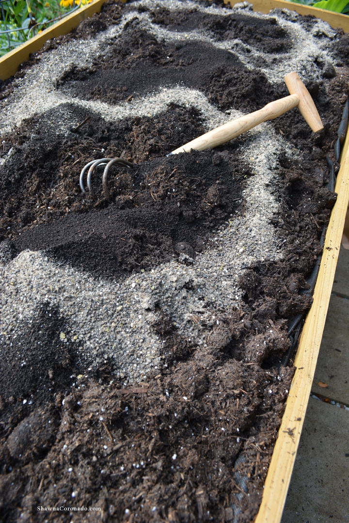Herb Garden Elevated Bed Soil Mix
