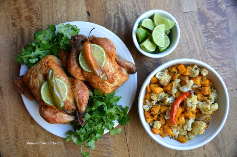 Roasted Butternut Squash and Cauliflower Stuffed Cornish Hen Recipe for Paleo, Keto, and Mediterranean Diets