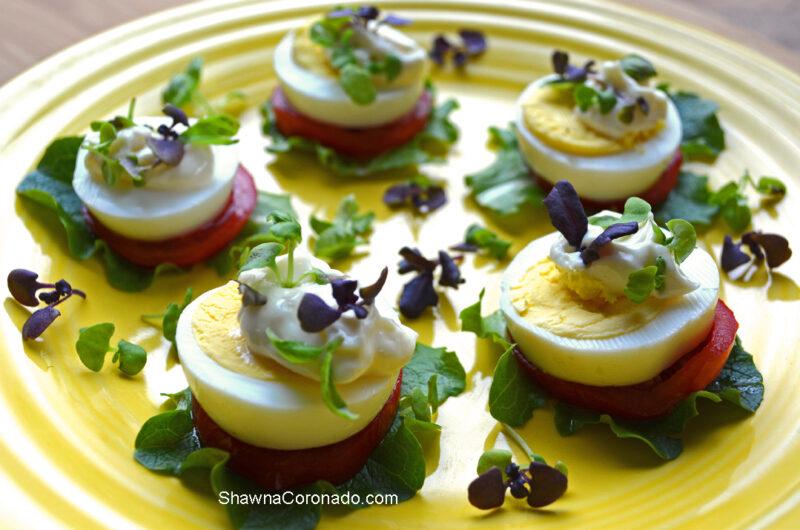 Egg Bites with Basil Microgreens