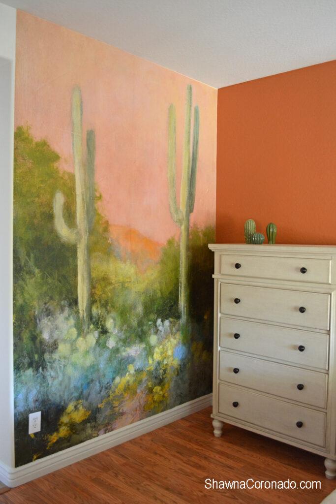 Cactus art wallpaper photowall design