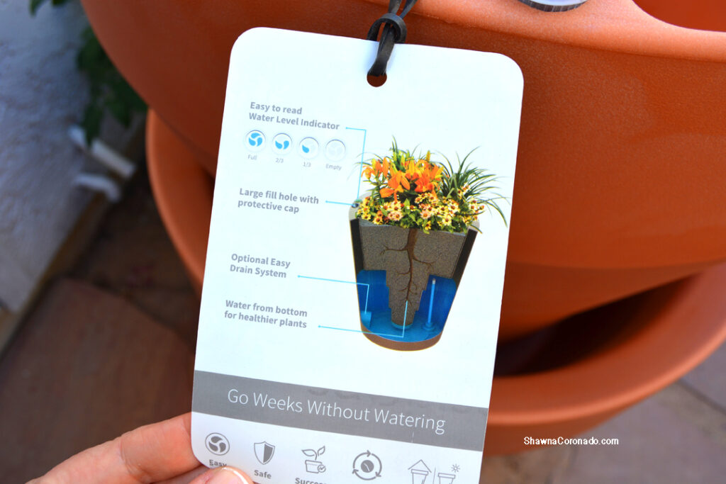 Crescent Trudrop Rim Planter Water 26 inch How it Works