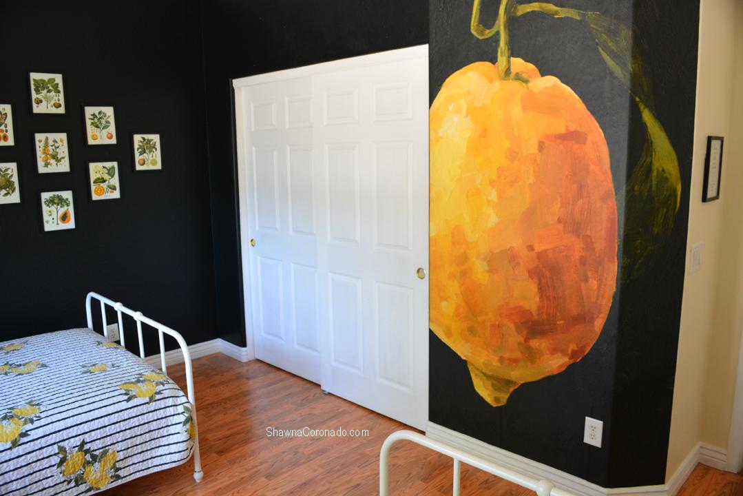 Lemon photowall mural design