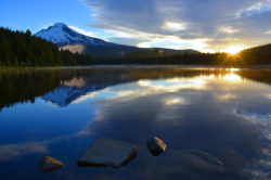 Lake Trillium Mount Hood Dawn Reflection copyright Shawna Corona