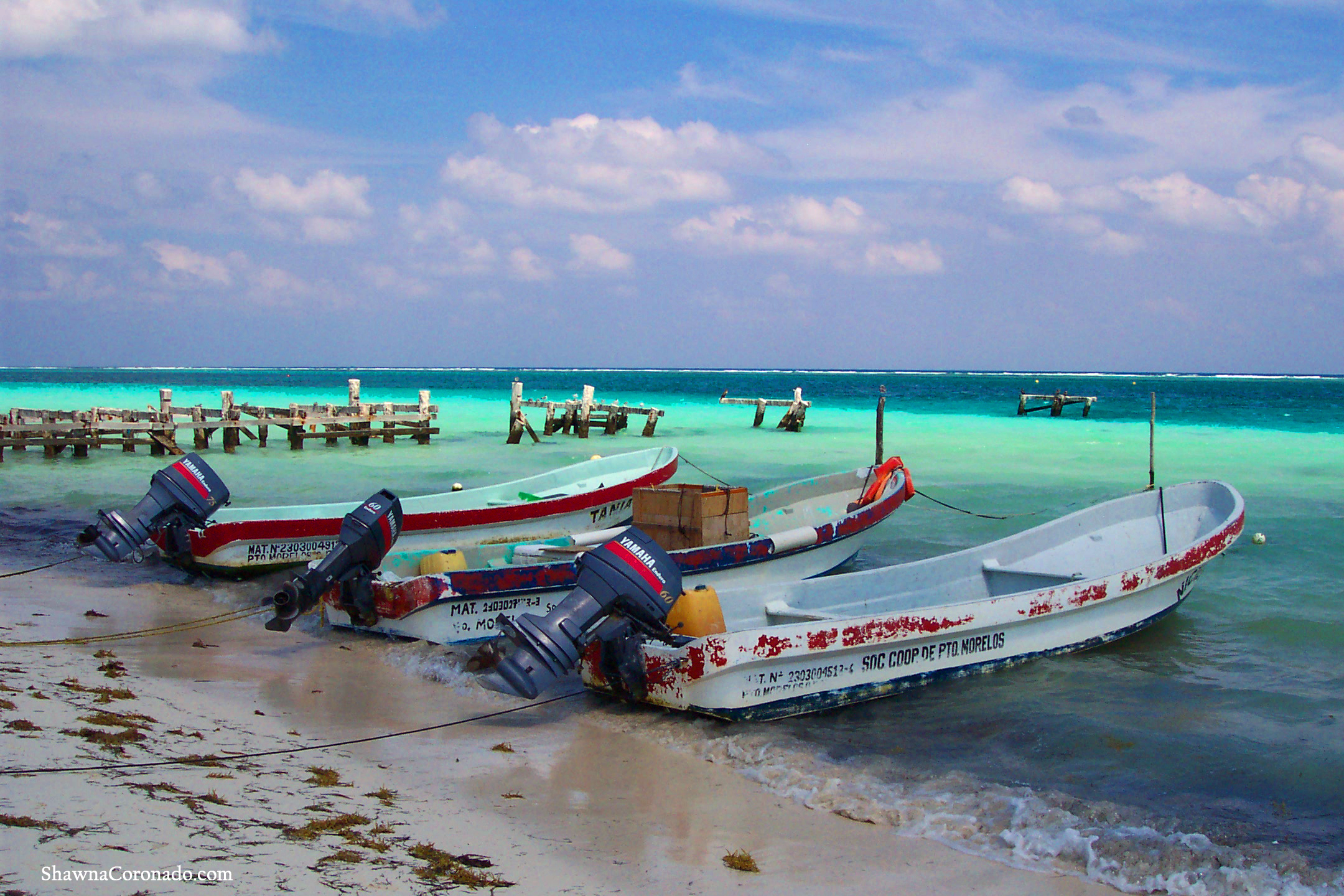 Merida Mexico Fishing Boats